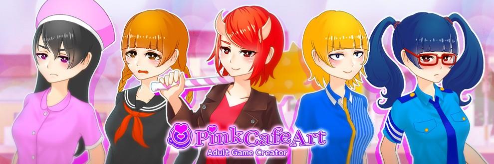 Pink Cafe Art