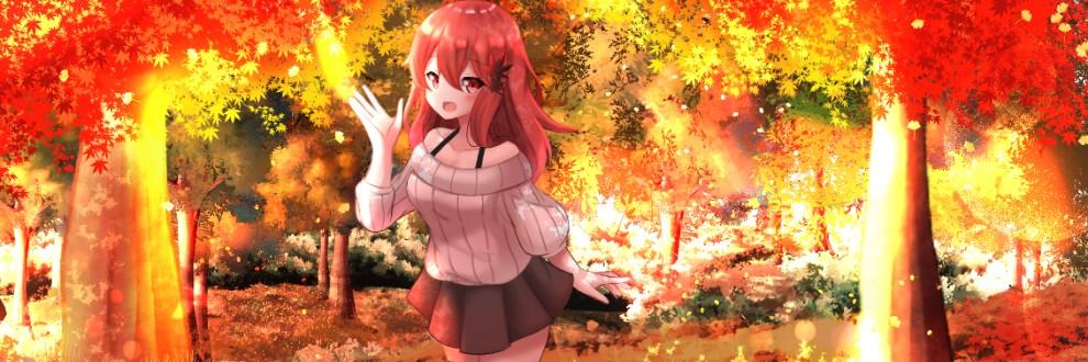 茜色に咲く紅葉の葉