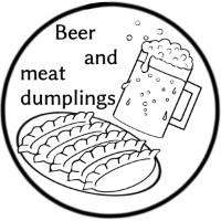 餃子仮面/ビールと肉餃子